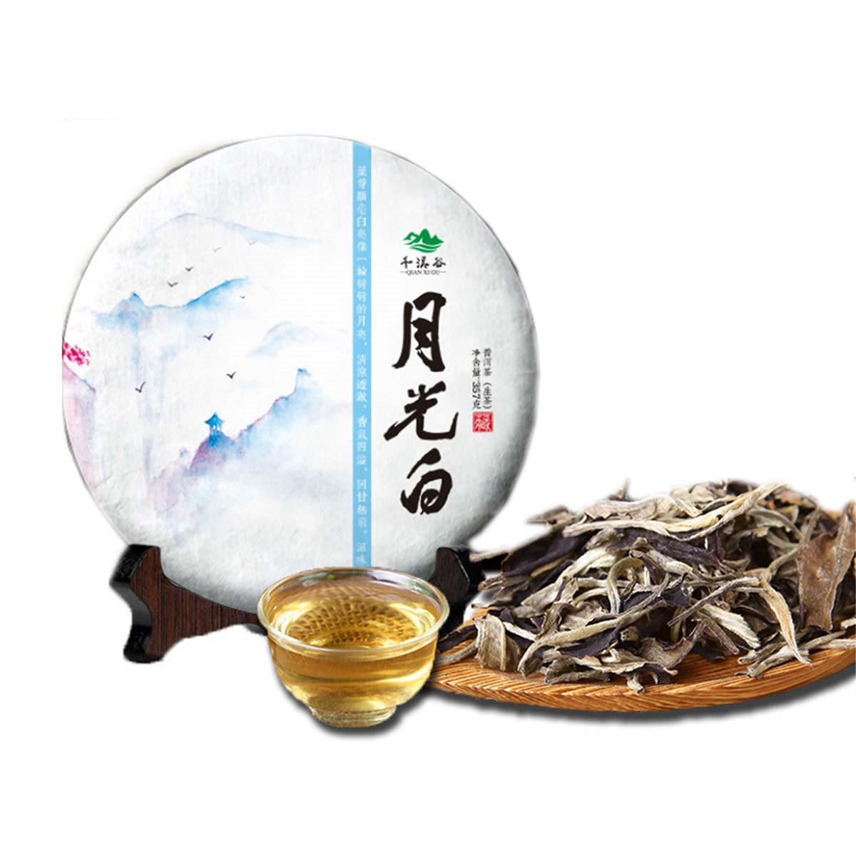 357g Yeni Yunnan Ham Puerh Çay Kek Moonlight Beyaz Moonlight Güzellik Çin Organik Klasik Puer Çay Sıcak satış