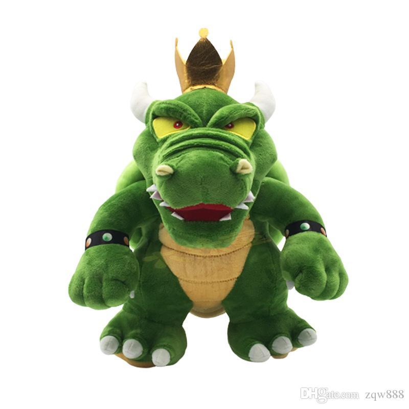 Оптовая детские игрушки Зеленый Король Купа Боузер Луиджи Bros плюшевые куклы мягкие игрушки животных для детских подарков 11.8 дюймов 30СМ NOMA040