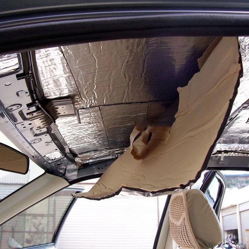 50x200cm автомобилей Hood Шасси Firewall теплозащитного экрана Auto звукоизолирующие Теплоизоляция автомобилей Тепло Звук Тепловые Proofing Колодки шума управления