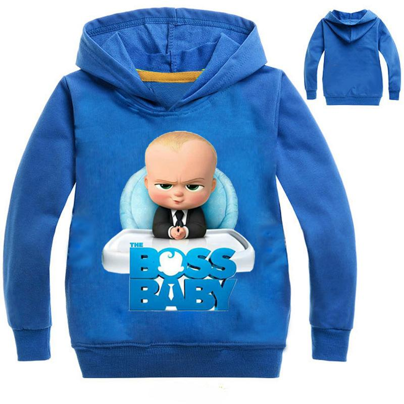 Босс детские мультяшные толстовки мальчики Дети Детские топы кофты одежда для мальчиков хлопчатобумажная одежда
