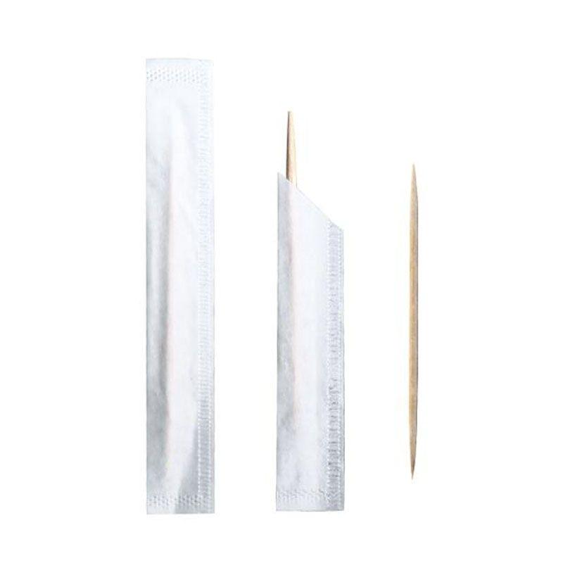 Palillos de bambú natural individualmente envuelto palillo de dientes de doble punto selecciones desechables al por mayor nuevo envío rápido QW9697