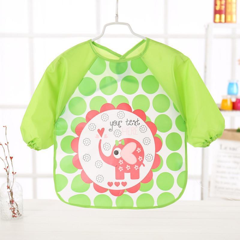 Nuevos 10 estilos linda de colorido baberos para bebés de manga larga Delantal del arte animal del delantal Niños babero Burp ropa suave Alimentación Toddle a prueba de agua