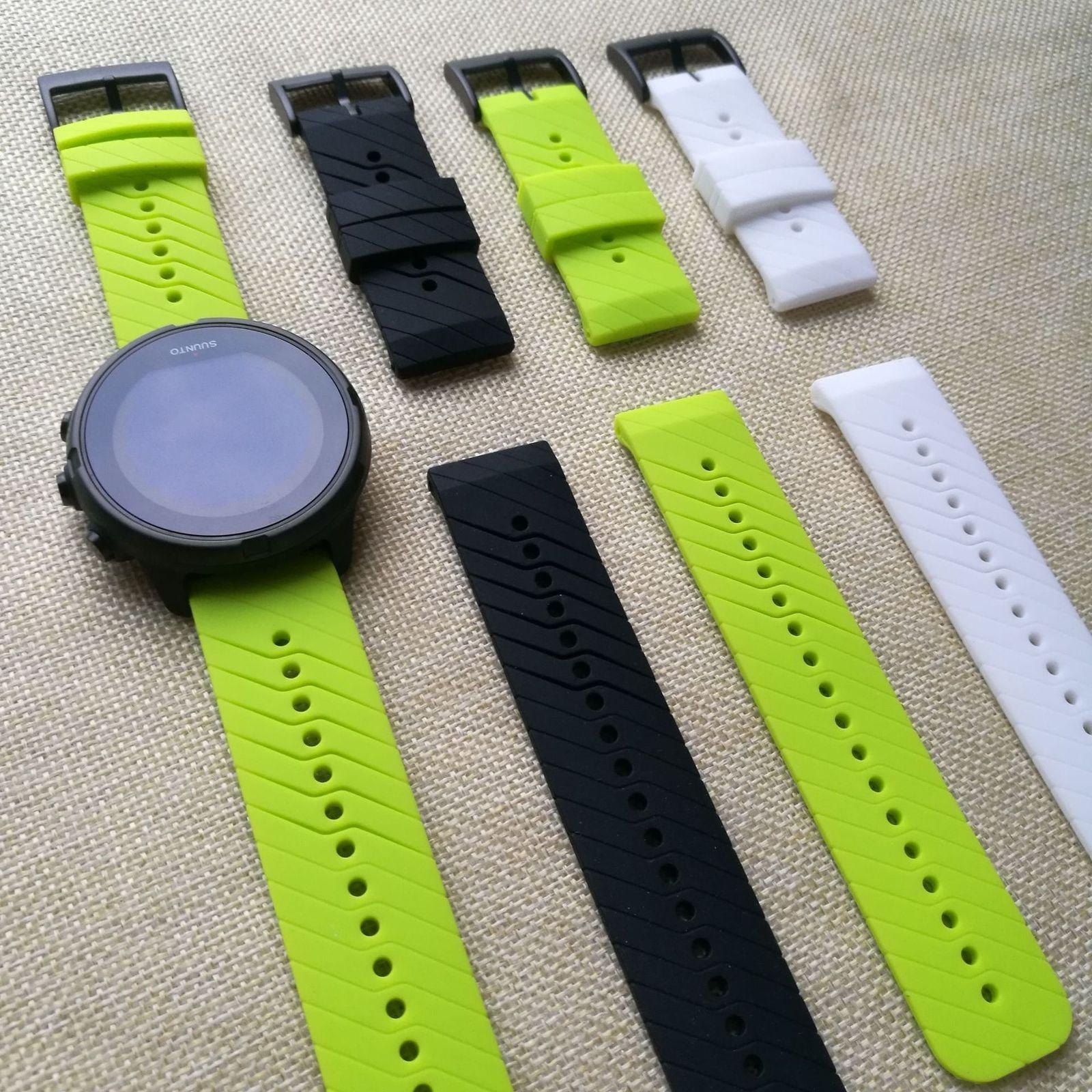 Suunto 9 Suunto 용 고무 시계 밴드 Spartan Baro Watch 실리콘 스트랩 손목 밴드 24mm