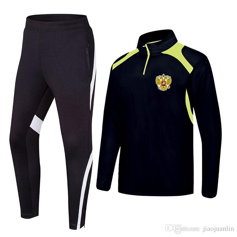 2020 Russie printemps et en automne nouveaux vêtements formation de football de longue veste peuvent être Survêtements de sport bricolage hommes personnalisés