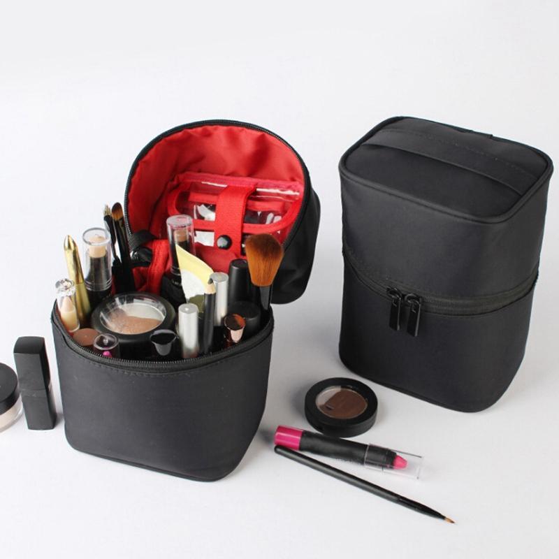 Große Kapazität Dreidimensionale Cosmetic Bag Wasserdichte Barrel Form Pflege Aufbewahrungstasche Portable für Reisen