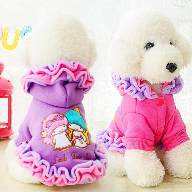 Pet Köpek Giyim Kışlık süviterler Dondurma Dantel Köpek Coats İçin Chihuahua Köpek Etekler Festivali Elbise Küçük ve Büyük Kız Köpekler