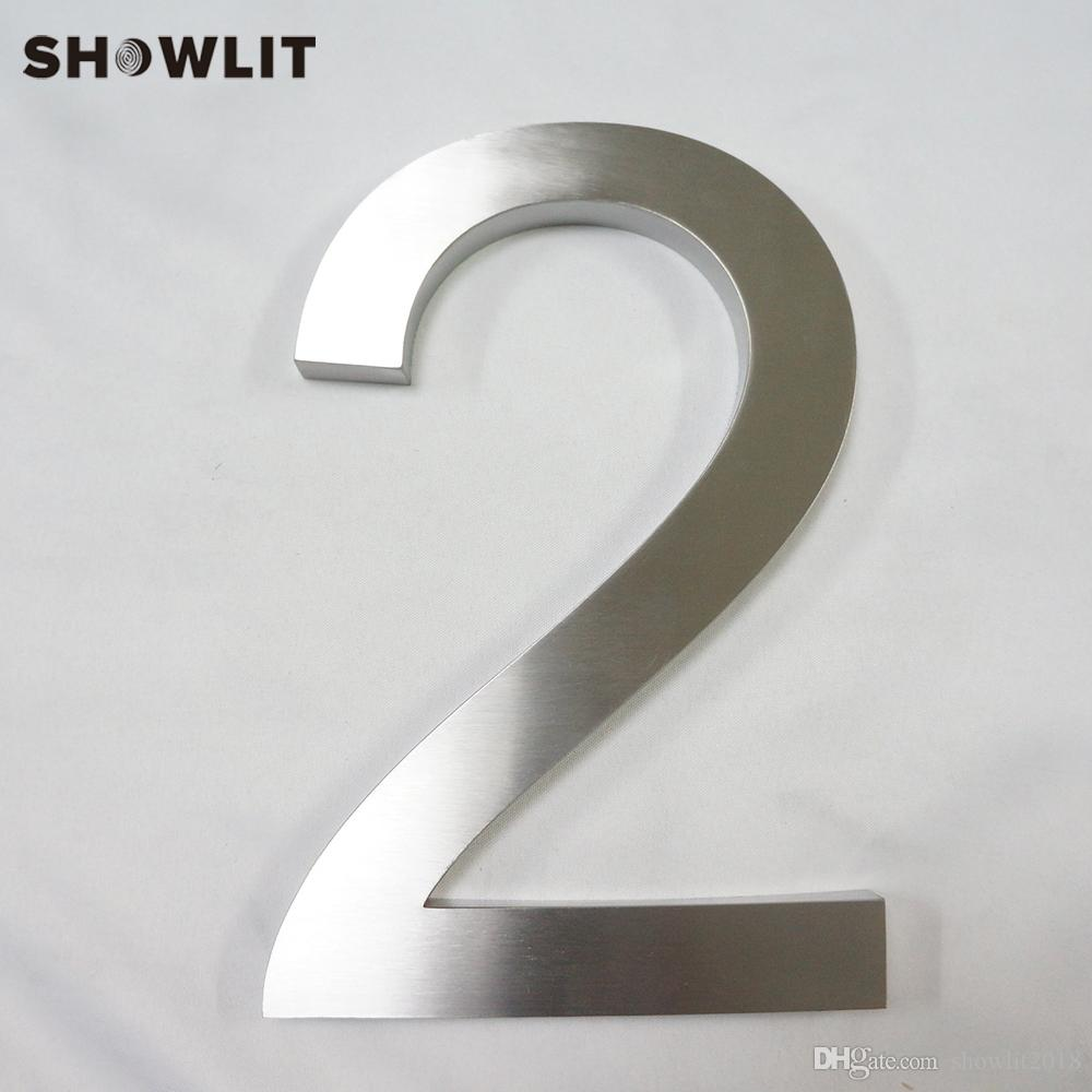 Custom 3D Houe Number Brushed Finish Stainless Steel Number For House Door