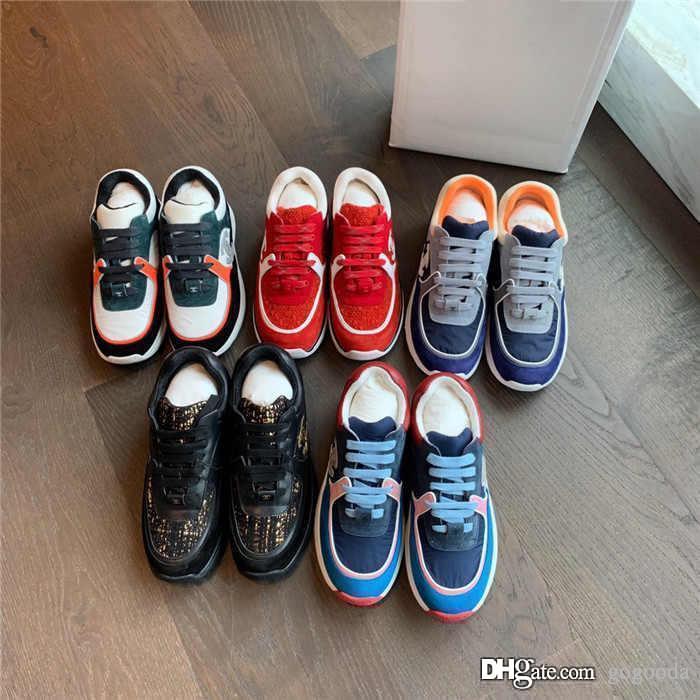 Bayanlar spor ayakkabıları yeni moda popüler gündelik serisi özel malzeme ekleme renk ışık ve rahat ayakkabılar çeşitli