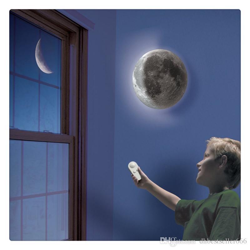 Luz Da Parede Da Noite LEVOU Luz Da Cura Da Lâmpada Da Lua Branco Romântico Criação Produto Controle Remoto Novo e de Alta Qualidade