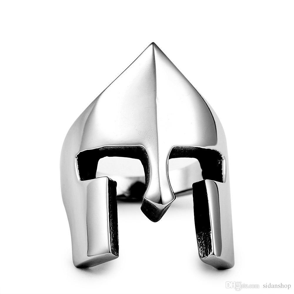 Avrupa ve Amerikan film ve televizyon aksesuarları Spartan Savaşçı kask erkek yüzük yüzük Fabrika doğrudan nokta toptan