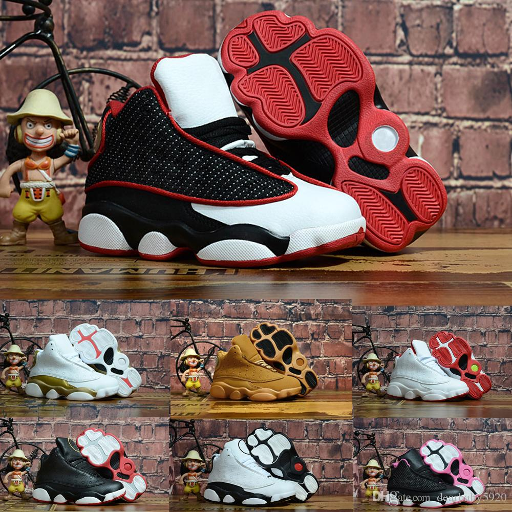 2019 Kids rings baby Basketball Shoes unc gold black red kid toddler Boys Sneakers Children Sports low trainers size 22-37