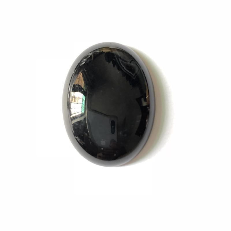 천연 블랙 오닉스하기 Agat는 카보 숑 컷 펜던트 링 얼굴 30x40mm 타원형 세미 귀중한 돌 보석 카보 숑 컷의 1PCS을 전자