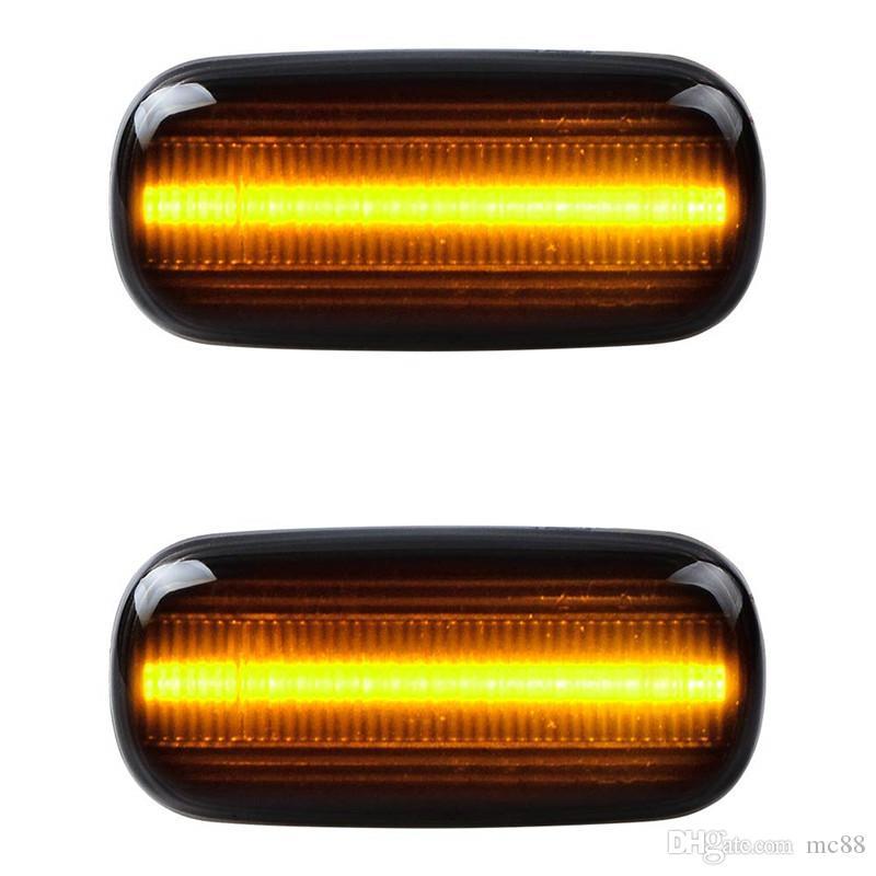 2 Unids Equalial LED indicador de marcador de marcador de luz compatible con Audi A4 S4 B6 RS4 B7 TT 8J Roadster A3 8P A6 S6 allroad C5 A8 D3