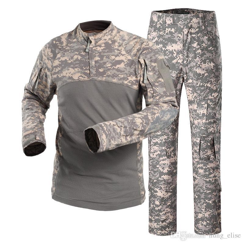 Sport-Anzüge Tactical Outdoor-Kampf Camping Wandern Uniform Sporttraining Armee-Kampf-Anzug Camouflage Jagd Sets