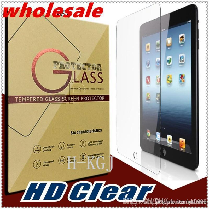 Wholesale For iPAD Tempered Glass Screen Protector For Ipad 2/3/4 Ipad mini Film Tablet Screen Protector 9H 0.4MM Tempered Glass Retail Pac