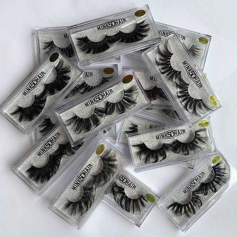 16styles False Eyelashes 5D Mink Eyelashes 25mm eyelash Natural Long Mink Lashes High Volume Fluffy Eyelash Makeup Tool