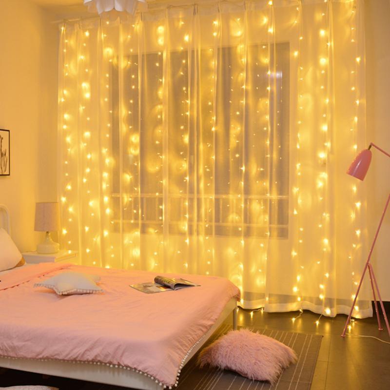 LED Weihnachtsschmuck, Weihnachtsbeleuchtung, nach Hause Girlanden, Vorhänge, Lichterketten, Weihnachten, Valentine, Navidad Dekorationen