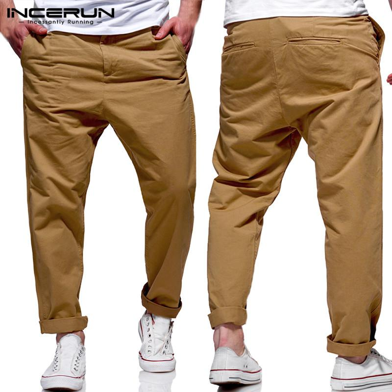 100% high quality yet not vulgar how to serch 2019 Fashion Formal Dressing Men Pants Dress Chinos Office Solid Pants Man  Long Trousers Loose Fitness Joggers Pantalon Hombre 3XL From Missher, ...