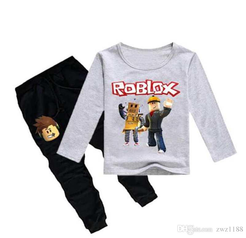 2020 Roblox Game Print Kids T Shirt Pants 2019 Spring Print Children Cotton Sweater For Boy Girl Clothes Sports Sets From Zwz1188 15 58 Dhgate Com