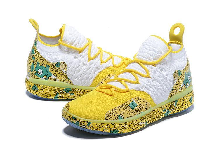 Gut KD 11 Aunt Perle Schuhe zum Verkauf mit dem Kasten neuen Kevin Durant 11 Basketballschuhe freies Verschiffen U7-US12