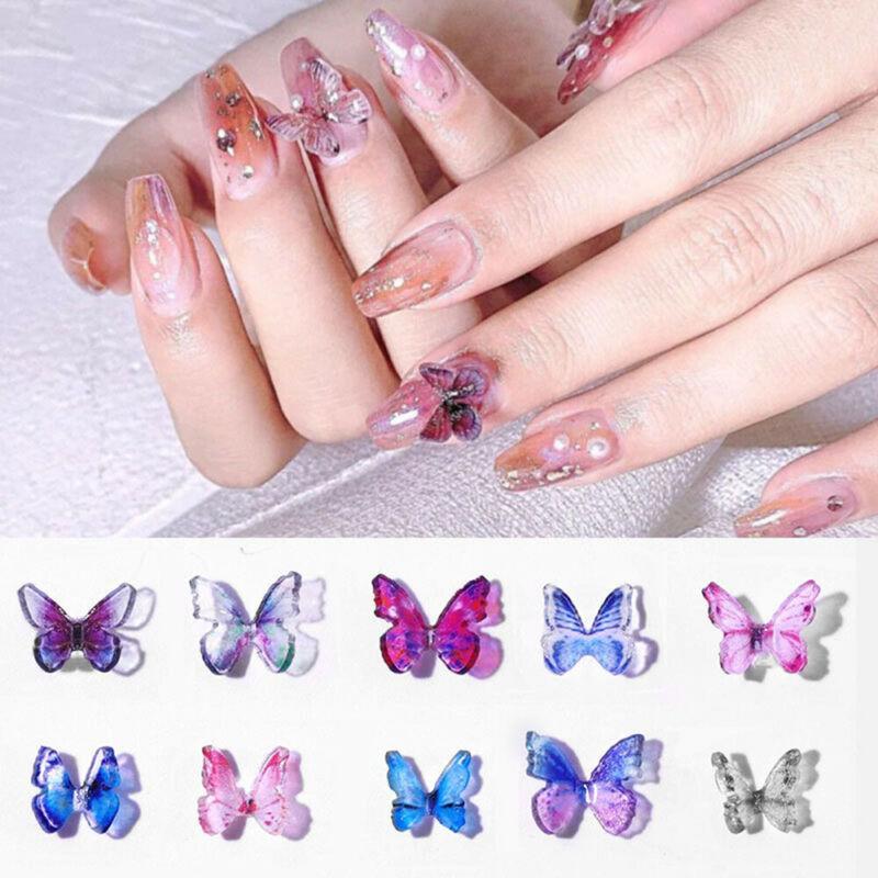 Resina 3D borboleta Lantejoula Nail Art Decoração Mixed Flowers Cor pequeno Daisy Manicure DIY