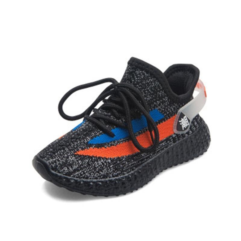 Tasarımcı Çocuk Ayakkabı Bebek Bebek Yepyeni Kanye West yez 35o Sneakers Run Ayakkabı 03 Bebek Çocuk Boys Kız Chaussures Enfants # 219 dökün