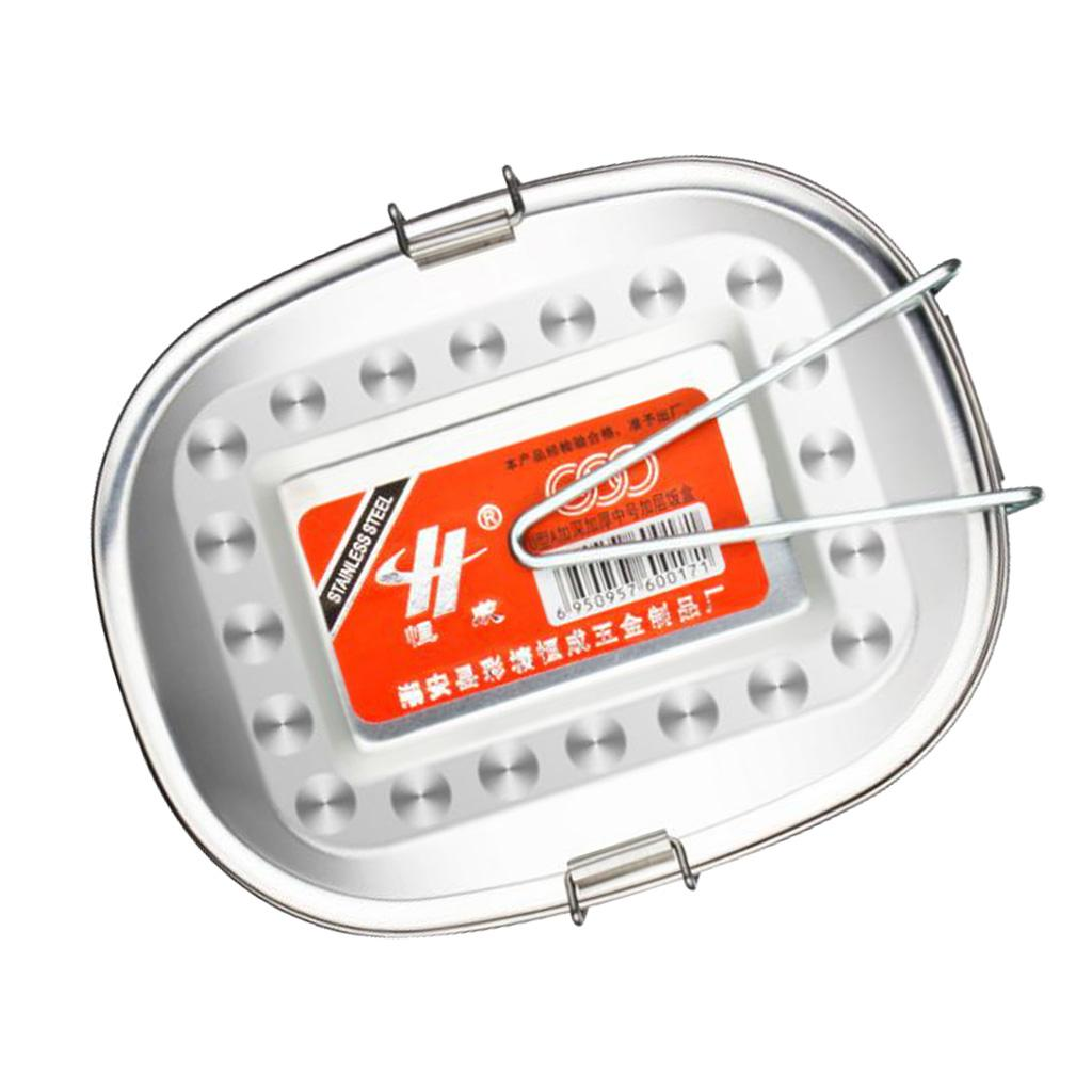 Edelstahl-Metall Bento Box Food Container Lock-Clip Schule Büroarbeit Camping
