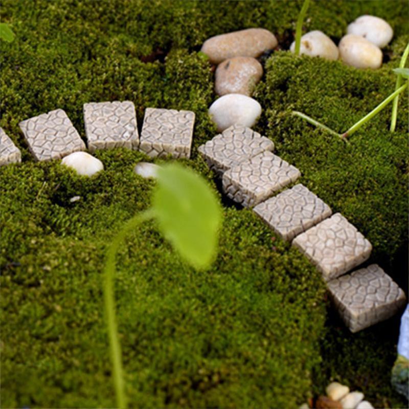 trampolín plaza manual de figuras Figurita escalera en miniatura para Mini Fairy miniaturas jardín Micro paisaje arte de la resina estatua animales