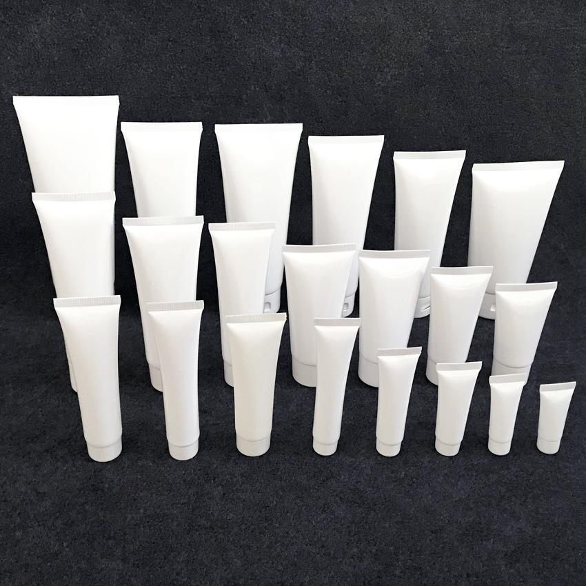 5ml-300ml White Plastic Tube Nesson Cosmetic Facebook Cleanser Cream Shambo Backging Pulgs 100pcs / lot Refillable Compacts Good