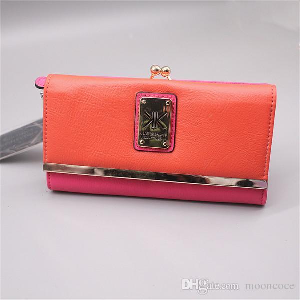 KK Wallet Modedesigner Designer Mappen Armbandes Frauen Geldbörsen Clutch-Taschen PU mit Reißverschluss