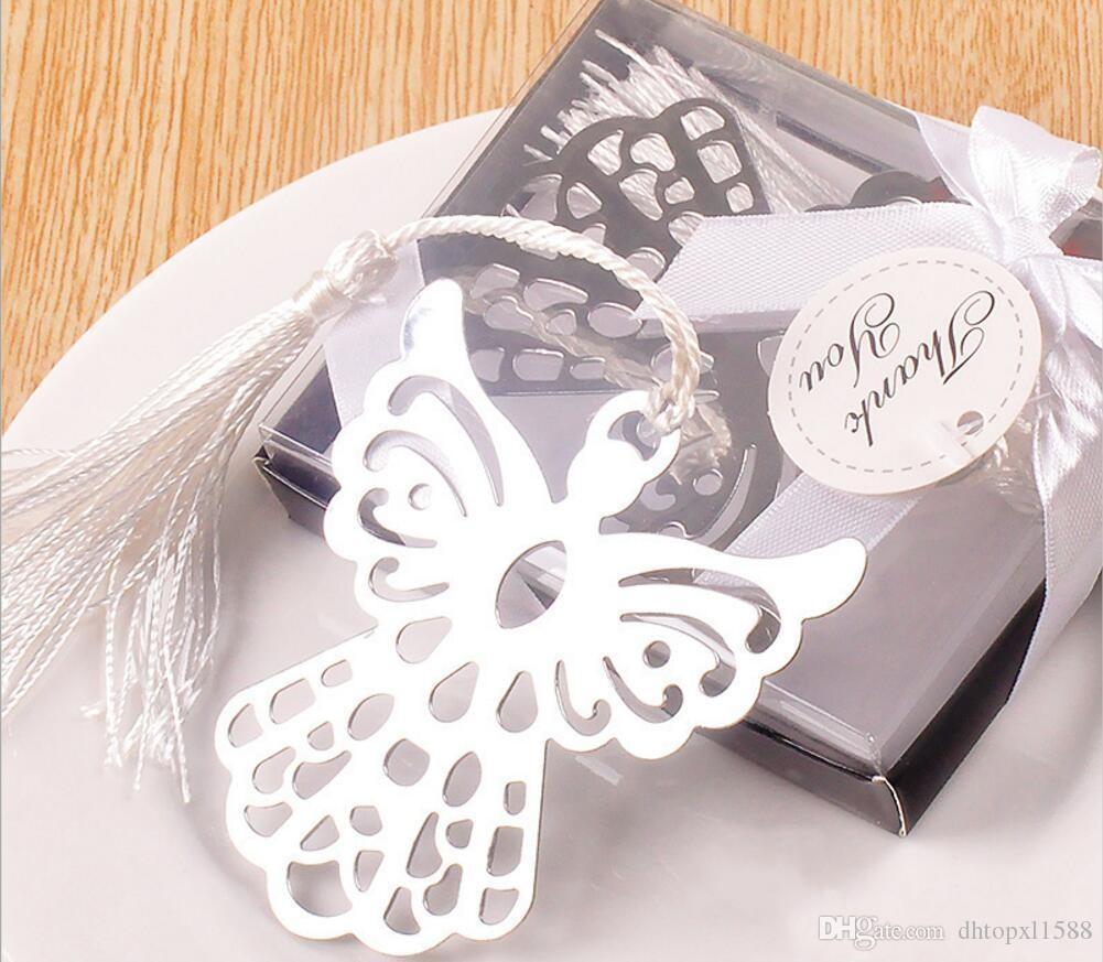 Angelo segnalibro in acciaio inox Preferiti Per il Battesimo Baby Shower partito dei ricordi di battesimo Giveaway regalo favori wedding e regali