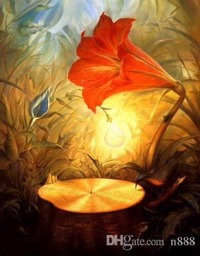 Vladimir Kush Music Of The Woods Home Decor Handpainted &HD Print Oil Painting On Canvas Wall Art Canvas Pictures 19