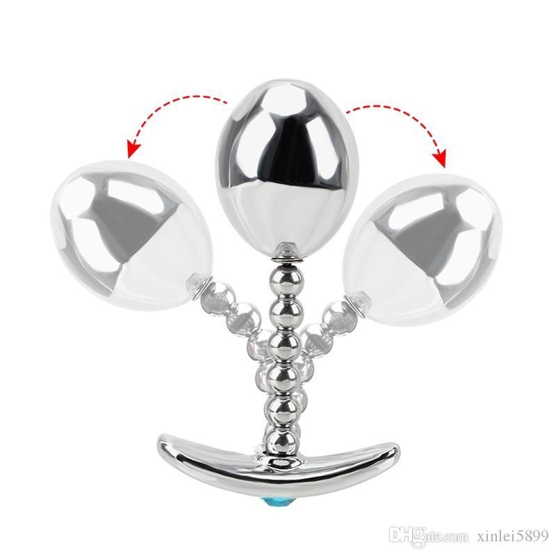 Для приклада Trainer Anal Plug Unisex Sex Размер 3 Штекер Простовер Анальный Взрослый Металлические Мужчины / Женщины Для Игрушки Разные Пары BVPLL