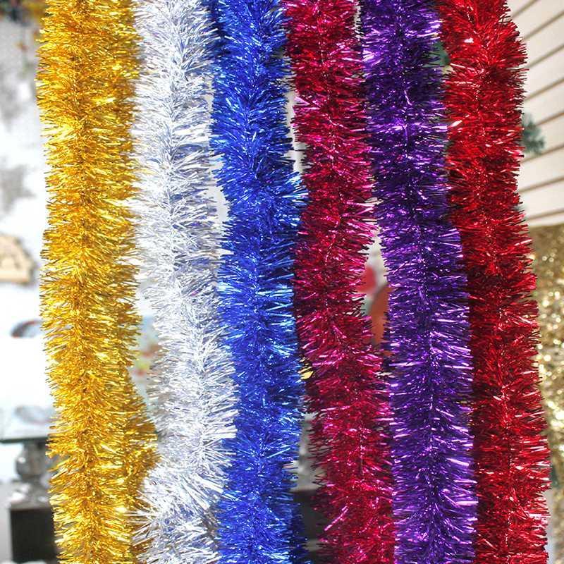 5pcs / lot Hot venda decoração Tinsel Guirlandas de Natal para enfeites de árvore de Nova decoração do partido do ano Navidad Tinsel Guirlandas