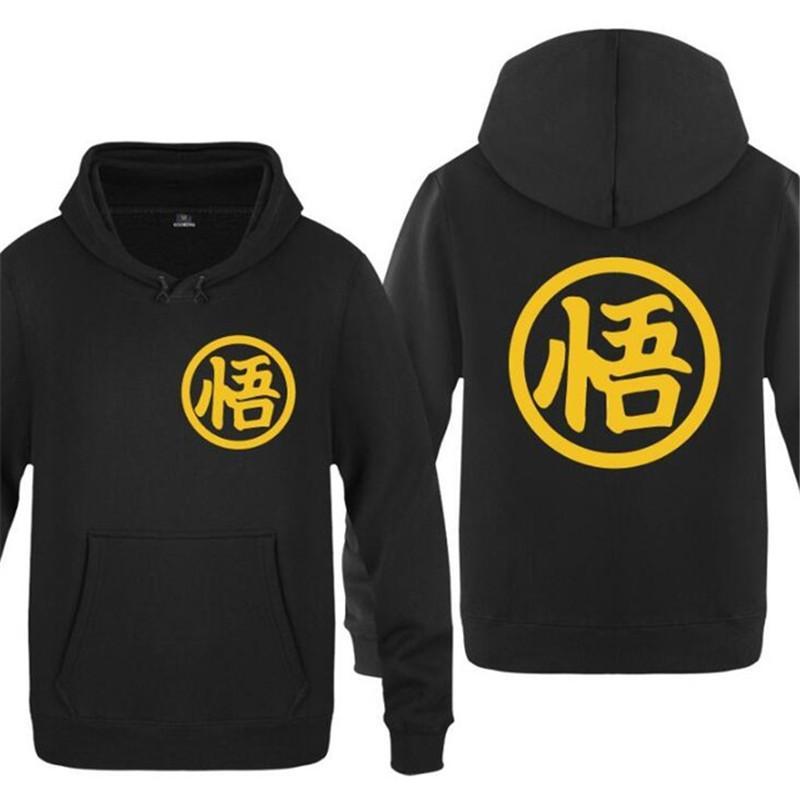 Hoodie Men Anime Dragon Ball Z Son Goku Symbol Mens Hoodies Fleece Long Sleeve Sktae Man Sweatshirt Tracksuit Moleton Masculino