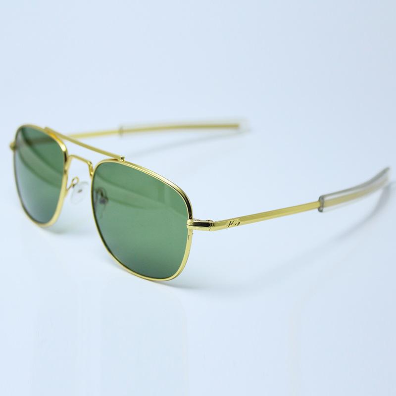 AO Foreign Trade European and American Models Metal Sunglasses for Men and Women Fashion Glass Glasses Doubl Trestle