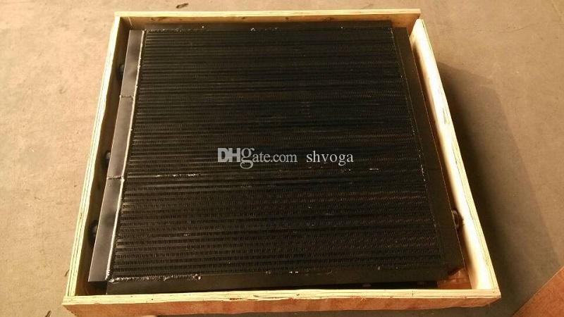 Free shipping 88260002-198 Sullair black aluminum plate fin after air oil cooler heat exchanger for LS25S air compressor