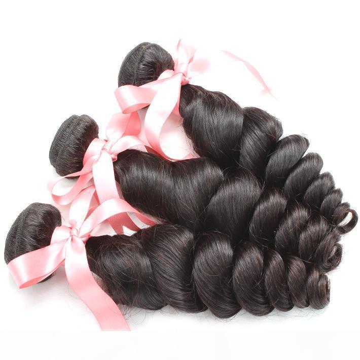 100% malaio do cabelo Bundle 3pcs muito Remy Cabelo Humano Weave não transformados ondulado solto natural da onda colorida Dyeable Hair Extension Greatremy