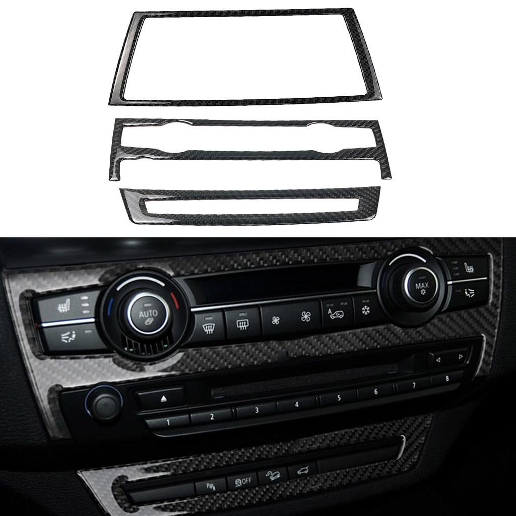 Panneau de configuration de navigation GPS en fibre de carbone couverture Cadre pour BMW X5 E70 E71 X6