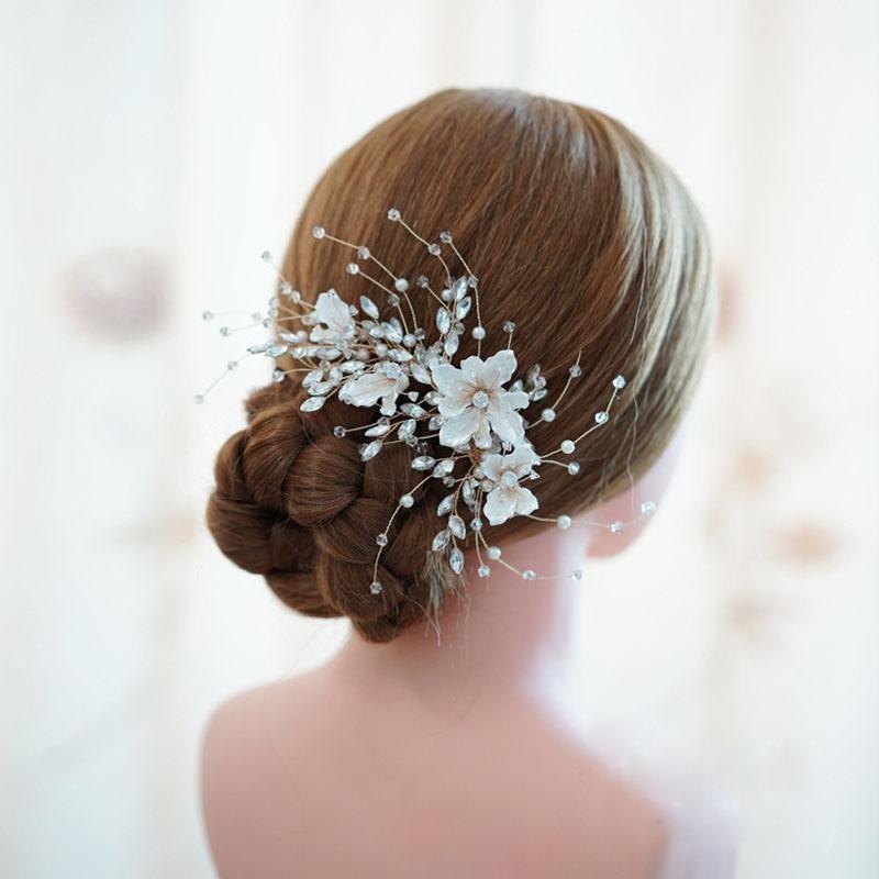 Épingle à cheveux strass enfant Fleur Mariée Bijoux Bijoux de cheveux