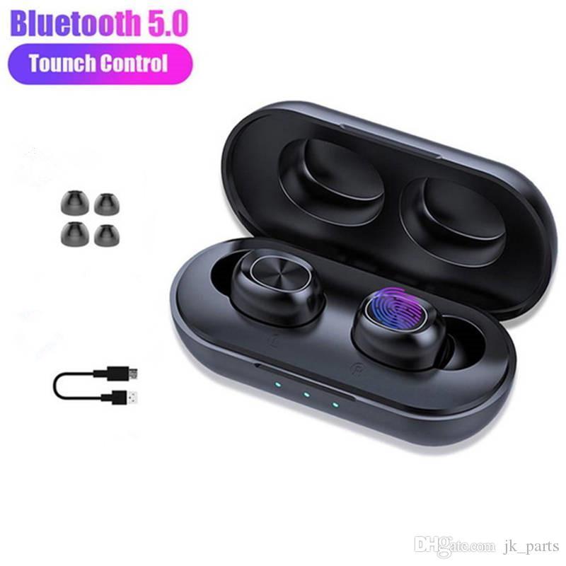 TWS 5.0 Kopfhörer B5 drahtlose Bluetooth-Kopfhörer Wasserdichte 6D Stereo Sports Headset Touch Control Earbuds 300mAh Ladetasche mit Mic
