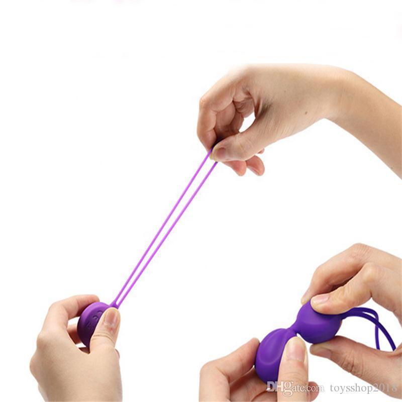 Yumuşak Silikon ben wa Kegel Topu Vajinal Sıkı Egzersiz Topu ben wa kadınlar için topları