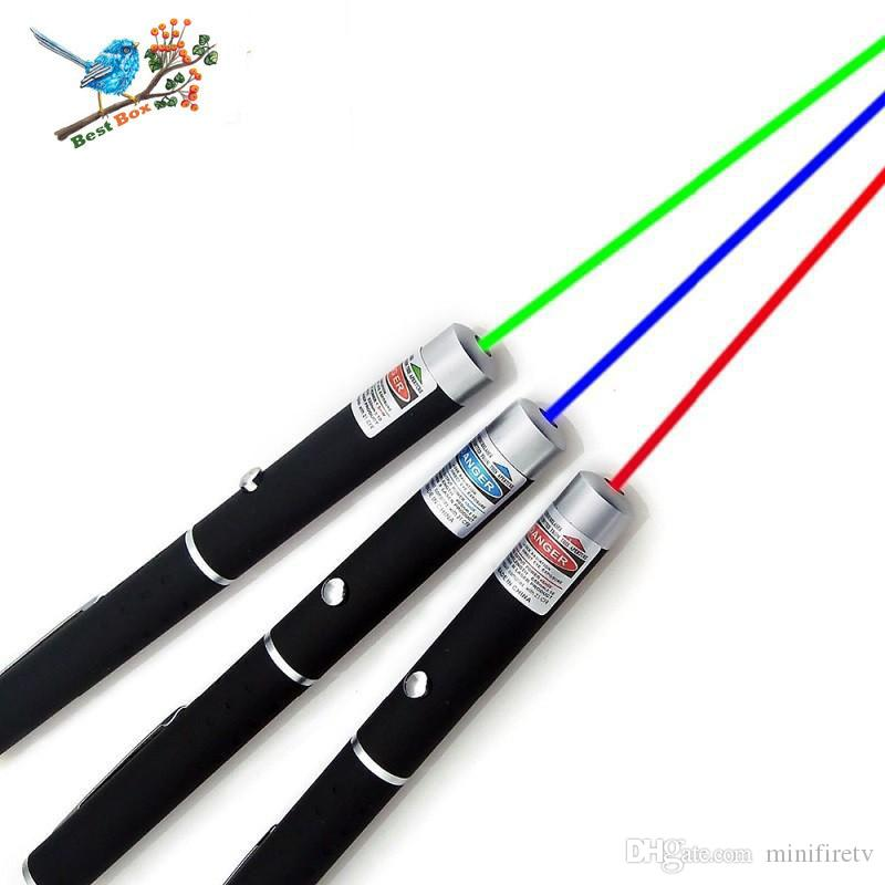 bon marché Pointeurs de laser Grande puissance 650NM de lumière bleue élégante rouge-verte bleue puissance élevée de stylo de Lazer de stylo de lumière de laser