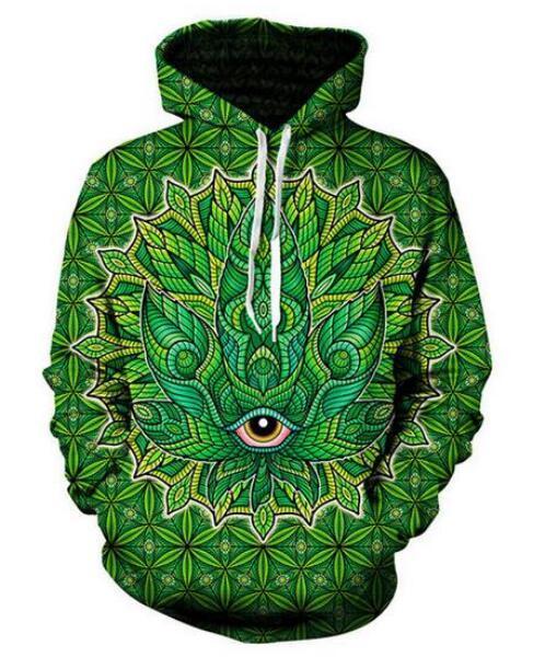 Moda Unisex Arte Verde Engraçado 3d Impressão Casual Crewneck Moletom Com Capuz Homens Mulheres Roupas Estilo Harajuku Pullover Jaquetas Casaco de Qualidade Da Marca YT034