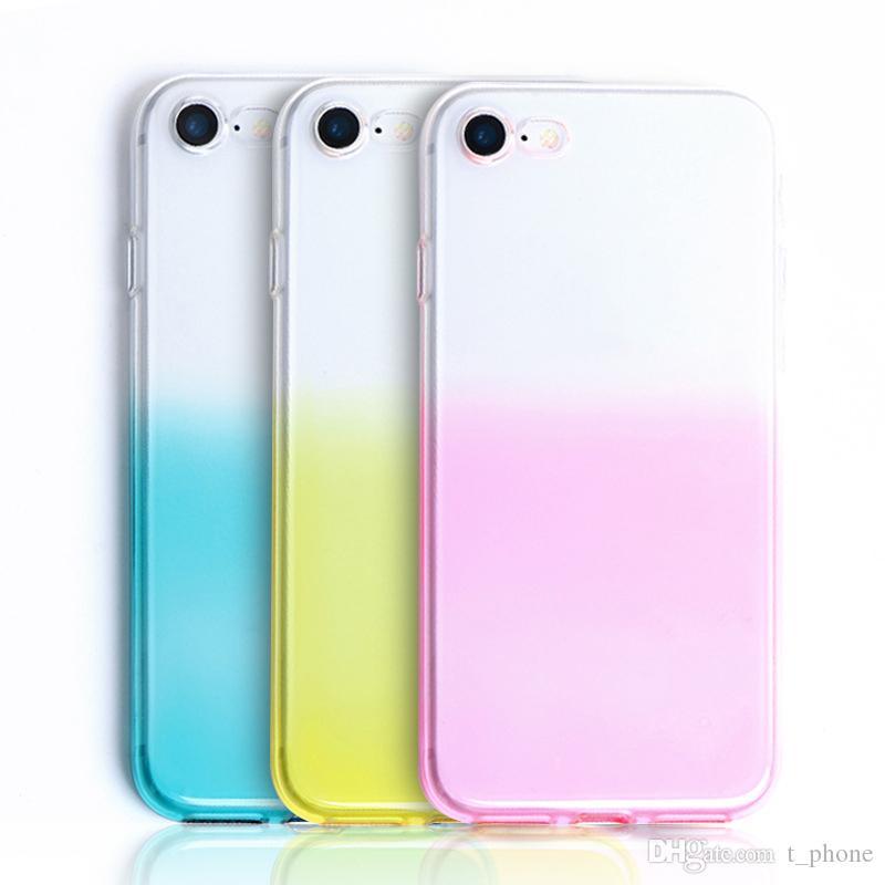 Для Iphone 8 Plus XS Max Gradient Aurora Color Intrigue Защита от падения TPU случая сотового телефона Свободная DHL 1503