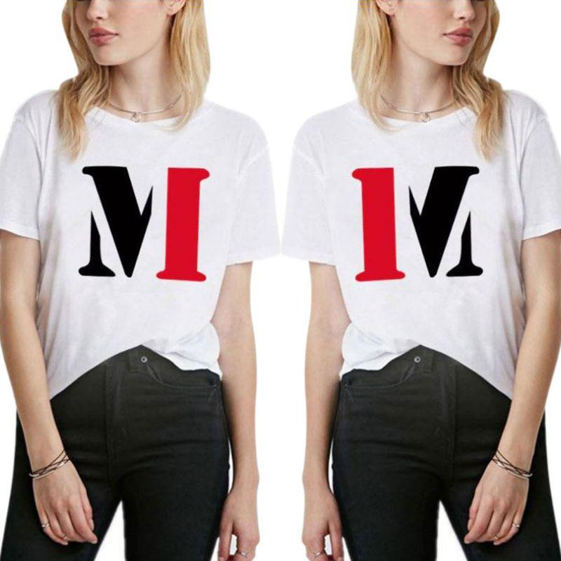 2019 New Fashion Women Casual Summer T-Shirt Letter Pattern Short Sleeve Lady Popular Loose Pullover Tops Funny Tee Hipster
