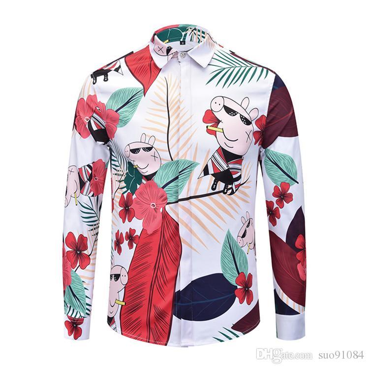 Mode Herrenhemden Herren Business Designer Hemden Freizeit-Shirt Männer langärmelige Luxus Medusa Fancy Slim Fit Shirts