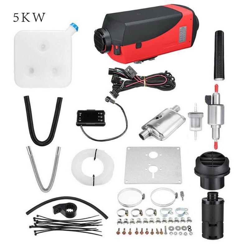 5кВт 8kw LCD / Ручка / цифровой одинарное обогреватель отверстие глушителя черный и красный