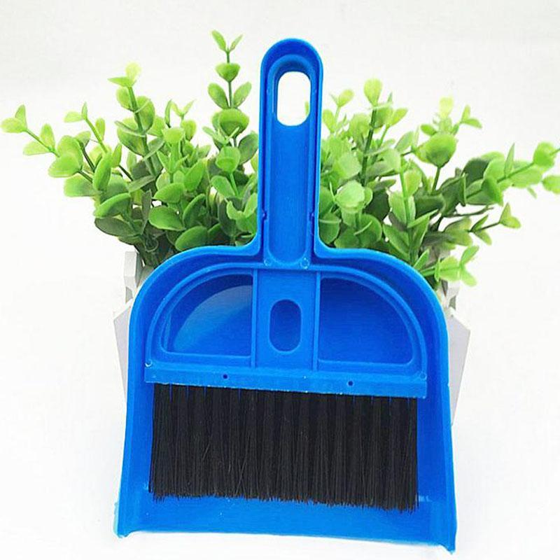 Mini Brosse de nettoyage Sweeper Pelle de bureau Brosse de nettoyage Clean Pet Waste Balai + Scoop Kit petit 2-pièces Outils de bureau