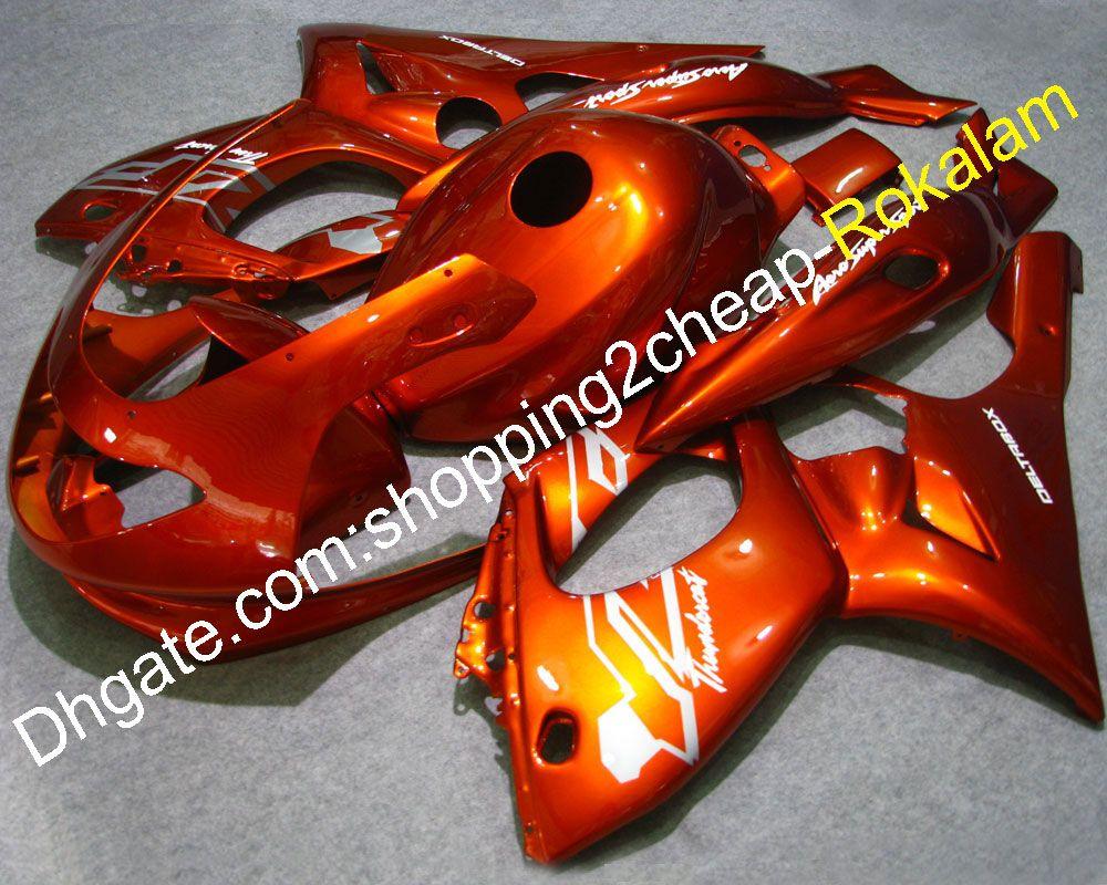 97 98 99 00 01 02 03 04 05 06 07 YZF-600R Fairing For Yamaha YZF600R Thundercat Fairing 1996-2007 Orange Body kit Fairings